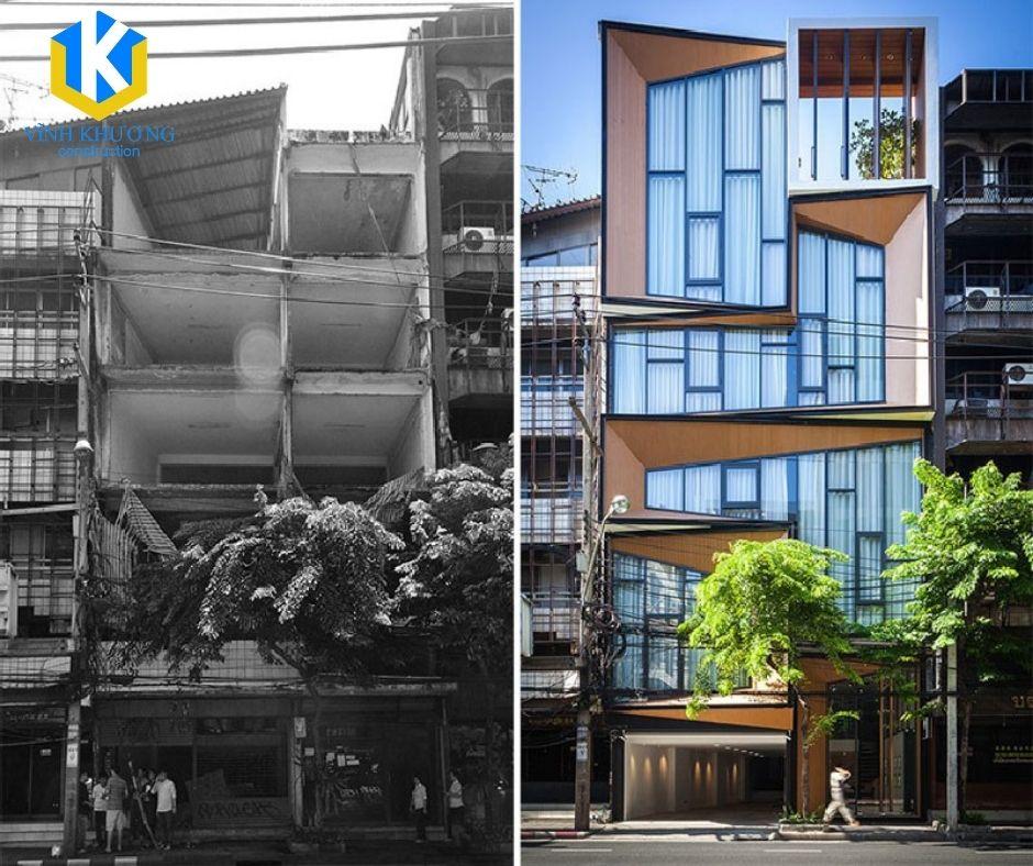 VKCONS có thể hô biến từ công trình cũ nát thành tòa nhà khang trang, hiện đại