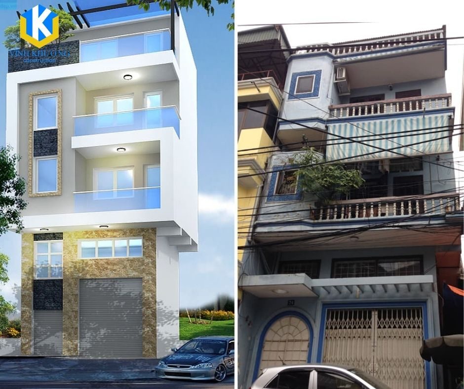 2 căn nhà thật khác biệt sau khi được cải tạo, một không gian mới hiện đại và tiện nghi cho gia đình