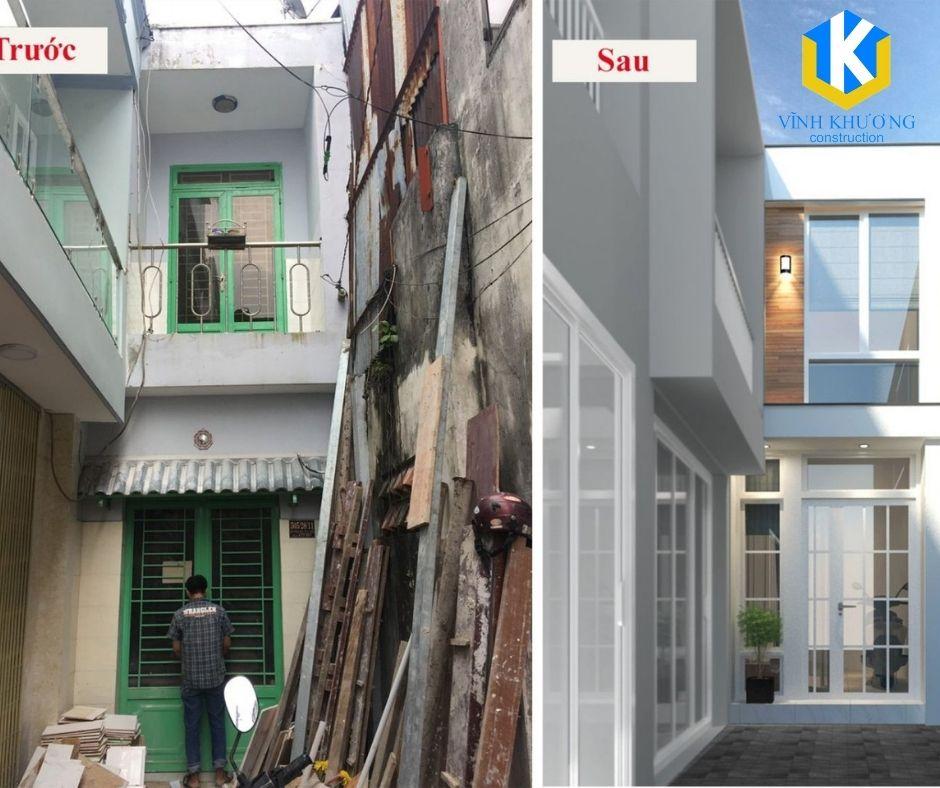 Thi công cải tạo nhà cũ quận 2 trở nên hiện đại, sáng sủa và tiện nghi